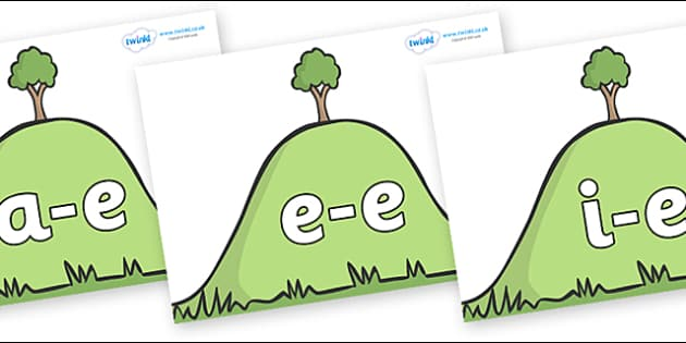 Modifying E Letters on Hills - Modifying E, letters, modify, Phase 5, Phase five, alternative spellings for phonemes, DfES letters and Sounds