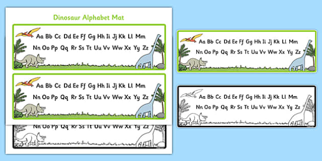 Dinosaur Upper and Lower Case Alphabet Mat