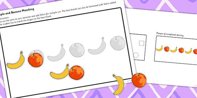Workstation Pack Fruit Matching Activities Set 2 - match