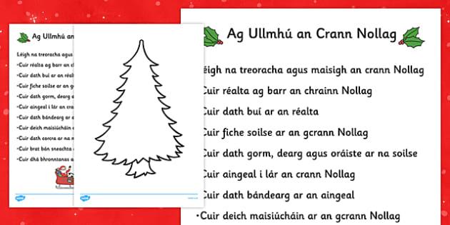 Christmas Tree Decorating Comprehension Activity - roi, irish, gaeilge, christmas tree, decorating
