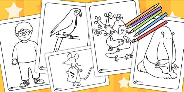 Colouring Sheets to Support Teaching on The Great Pet Sale - pets, animals, colouring