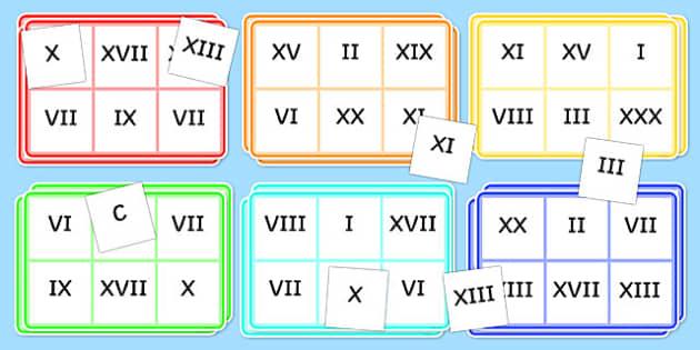 Roman Numerals Bingo and Lotto Pack - roman numerals, roman, numeral, bingo, lotto, bingo lotto pack, themed bingo, themed lotto, numeracy games, games