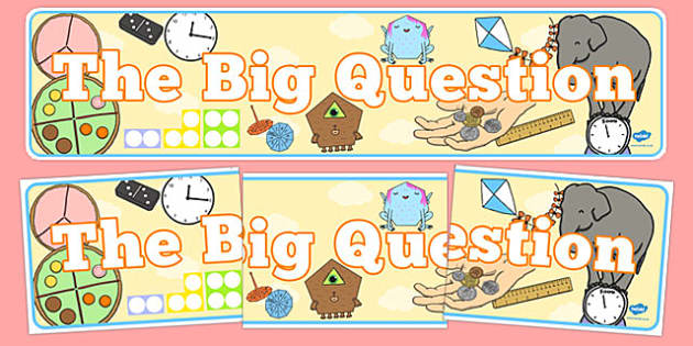 The Big Question Display Banner - the big question, display banner, display, banner