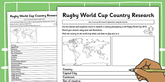 Rugby World Cup Country Factfile - rugby, world cup, country, fact file