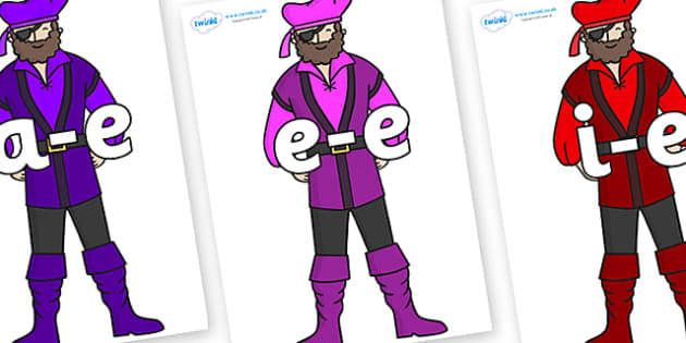 Modifying E Letters on Pirates - Modifying E, letters, modify, Phase 5, Phase five, alternative spellings for phonemes, DfES letters and Sounds