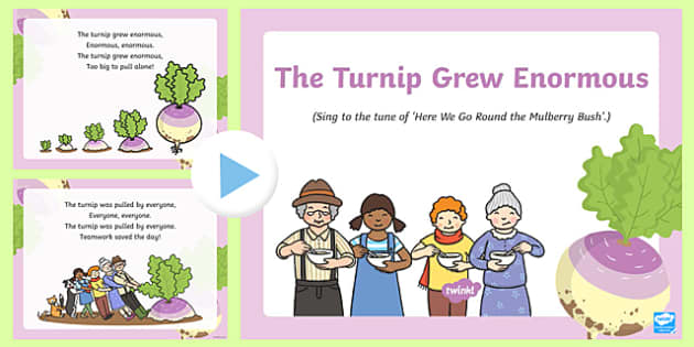 Turnip Grew Enormous Song PowerPoint