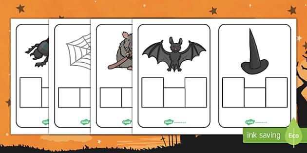 Halloween CVC Phoneme Frame Activity