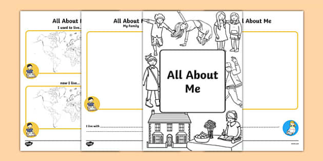 All About Me Booklet - information, workbook, ourselves, book