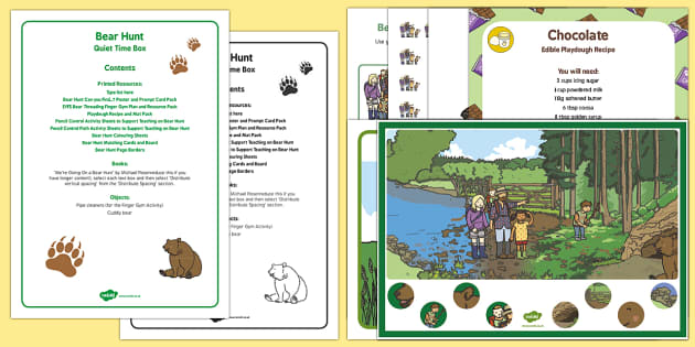 Quiet Time Box to Support Teaching on Bear Hunt