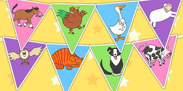 Bunting to Support Teaching on Farmyard Hullabaloo - farm, farm display, bunting, flags