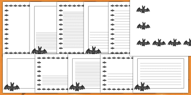Halloween Bat Page Border Pack