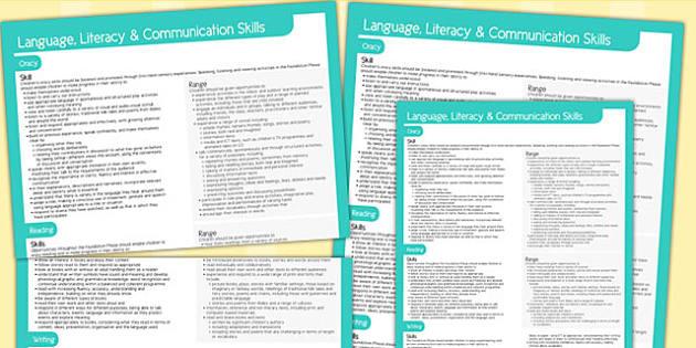Welsh Curriculum Foundation Language Literacy Communication Skill