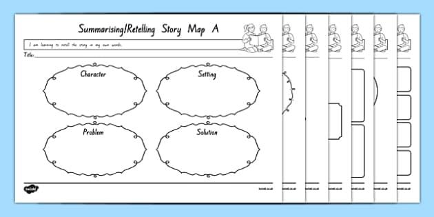 Summarising and Retelling Story Map