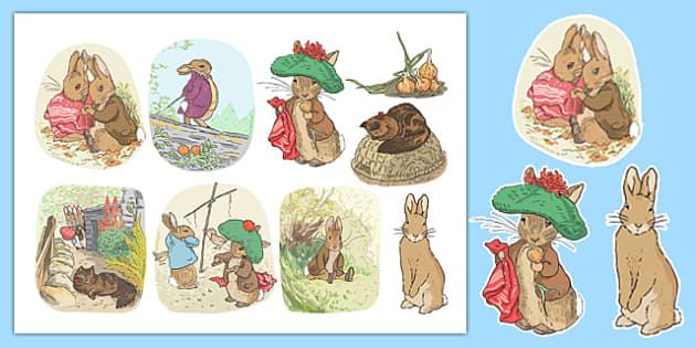 Beatrix Potter - The Tale of Benjamin Bunny Story Cut Outs - beatrix potter, benjamin bunny