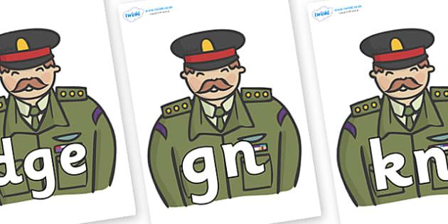 Silent Letters on Generals - Silent Letters, silent letter, letter blend, consonant, consonants, digraph, trigraph, A-Z letters, literacy, alphabet, letters, alternative sounds