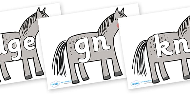 Silent Letters on Horse to Support Teaching on What the Ladybird Heard - Silent Letters, silent letter, letter blend, consonant, consonants, digraph, trigraph, A-Z letters, literacy, alphabet, letters, alternative sounds