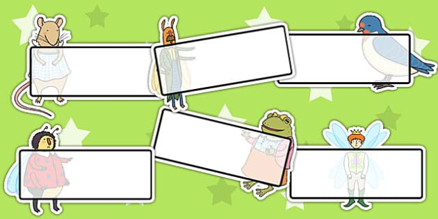 Thumbelina Editable Self Registration - self reg, name tags
