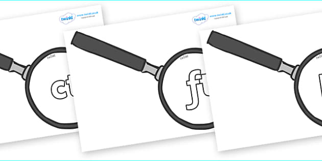 Final Letter Blends on Magnifying Glasses - Final Letters, final letter, letter blend, letter blends, consonant, consonants, digraph, trigraph, literacy, alphabet, letters, foundation stage literacy