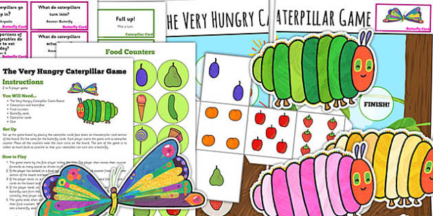 Board Game to Support Teaching on The Very Hungry Caterpillar - board game, story book