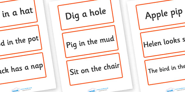 Phase 2 Matching Pictures Phrases - phase 2, matching, pictures, phrases
