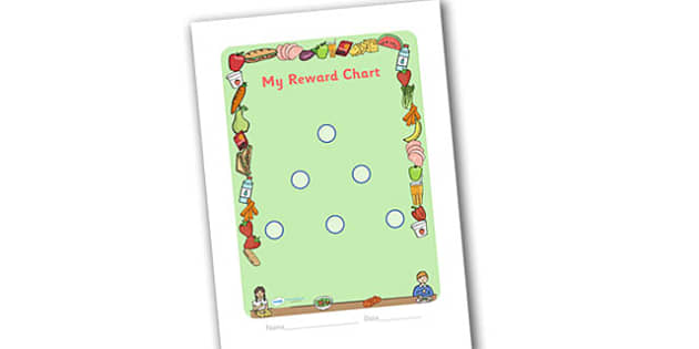 Lunchtime Themed Sticker Reward Chart 15mm - lunchtime, lunchtime reward chart, lunch reward chart, sticker reward chart, lunch sticker reward chart