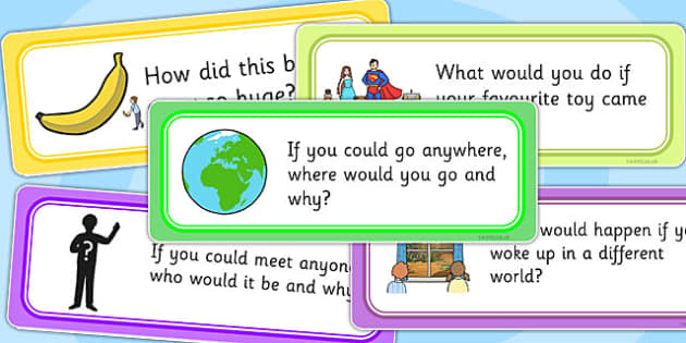 Creative Writing Prompt Question Cards - writing aid, word cards