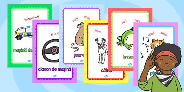 Cum Percepem Diferite Sunete - onopatopee, animale, obiecte, Romanian