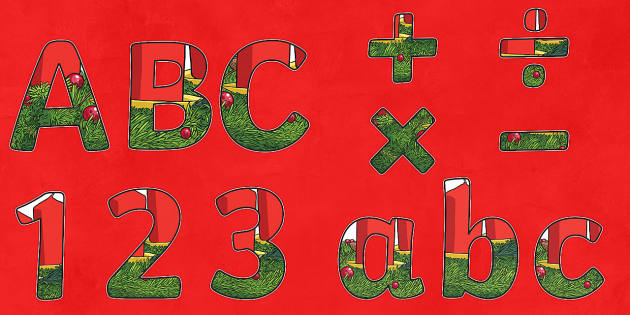 Advent Display Lettering - Christmas, Nativity, Jesus, xmas, Xmas, Father Christmas, Santa, St Nic, Saint Nicholas, traditions
