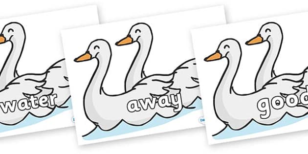 Next 200 Common Words on Swans - Next 200 Common Words on  - DfES Letters and Sounds, Letters and Sounds, Letters and sounds words, Common words, 200 common words