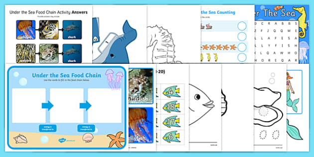 Top Ten KS1 Under the Sea  Activity Pack