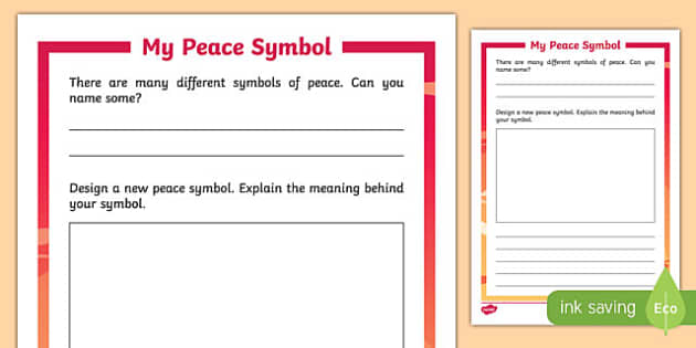 My Peace Symbol Activity Sheet-Irish, worksheet