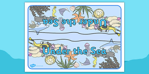 Under the Sea Group Table sign - under the sea, group, table sign