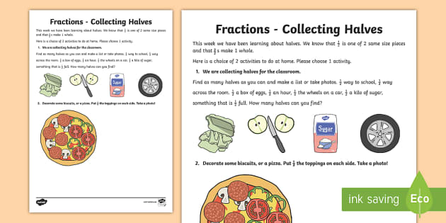 Find a Half Worksheet Home Learning - half, worksheet, home