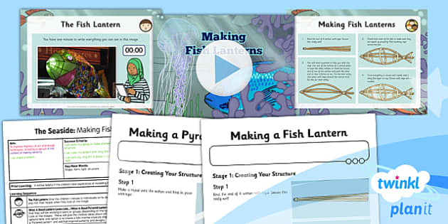 PlanIt - Art UKS2 - The Seaside Lesson 5: Making Fish Lanterns Lesson Pack
