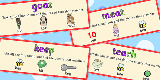Final Phoneme Deletion Picture Matching Cards - phoneme, cards