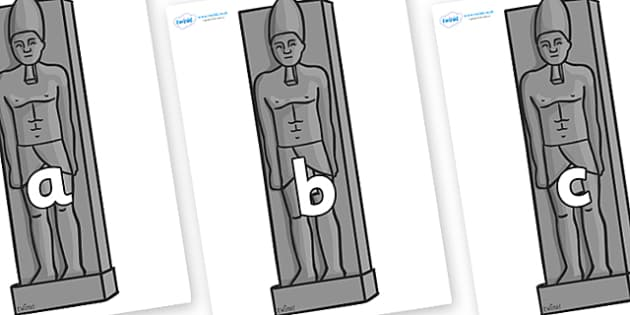 Phase 2 Phonemes on Egyptain Statues - Phonemes, phoneme, Phase 2, Phase two, Foundation, Literacy, Letters and Sounds, DfES, display