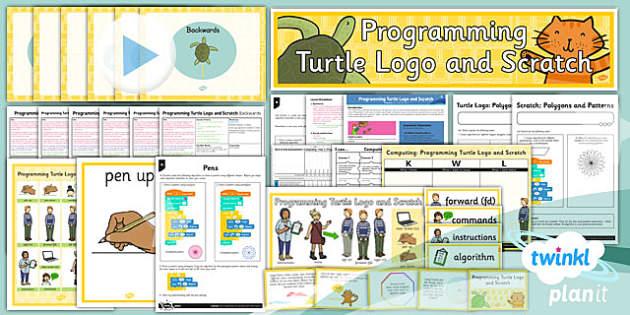 PlanIt - Computing Year 3 - Programming Turtle Logo and Scratch Unit Pack - planit, computing