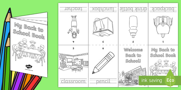 Back to School Activity Booklet - Back to School, back to school spelling, transition, handwriting, Australia