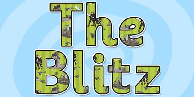 The Blitz Display Lettering - the blitz, display, lettering, letter