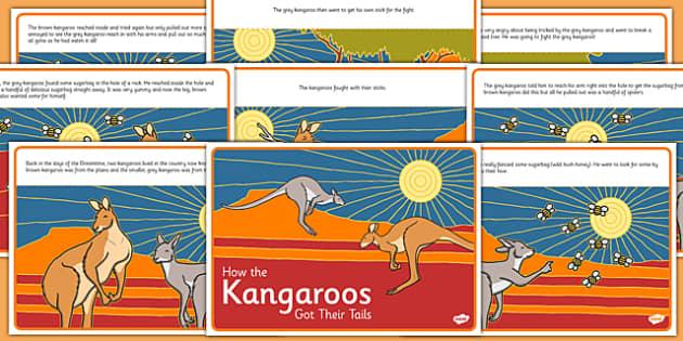 Aboriginal Dreamtime How the Kangaroos Got Their Tails Story - australia, aboriginal, dreamtime, how the kangaroos got their tails, story