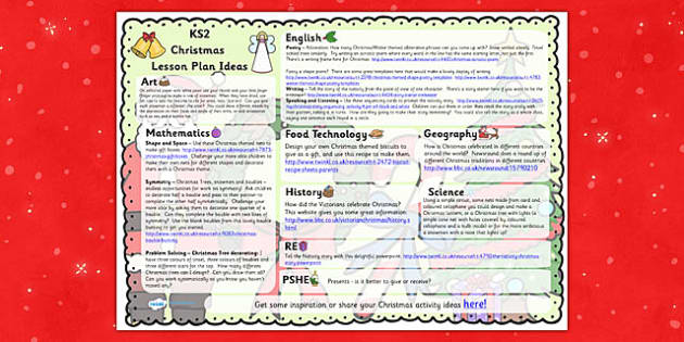 Christmas Lesson Plan Ideas KS2 - christmas, KS2, lesson plan