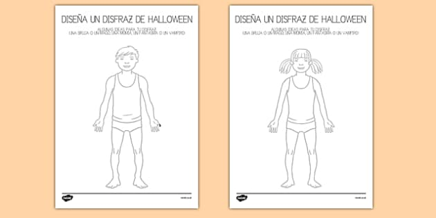 Ficha - Diseña un disfraz de halloween