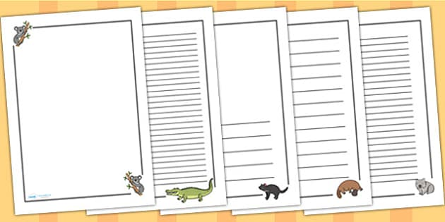 Australian Animals Page Borders - australia, australian animals
