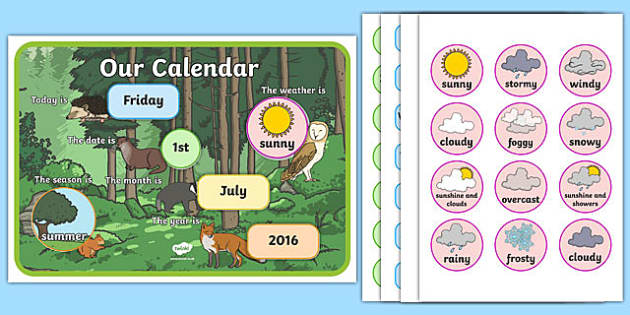 Woodland Themed Display Calendar - woodland, display calendar, display, calendar