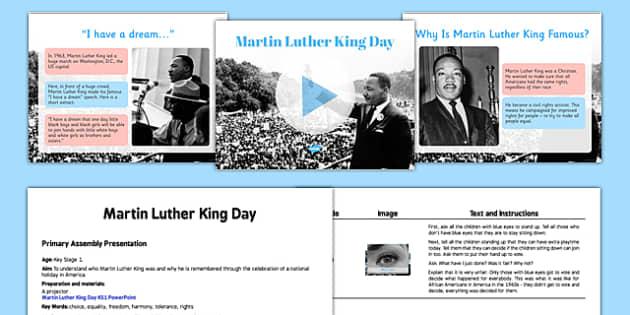 Martin Luther King KS1 Assembly Pack - martin luther king, ks1, assembly, pack, script, presentation