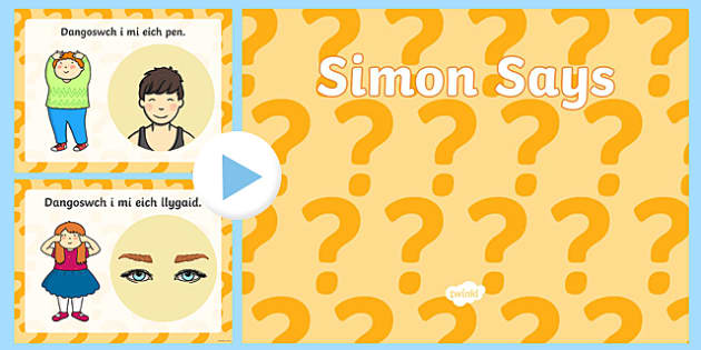 Simon Says PowerPoint-Welsh