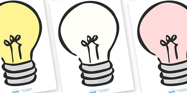Editable Lightbulbs (A4) - Electric, safety, editable, label, safe, page border, border, writing template, writing aid, writing aid, power, circuit, electricity, battery