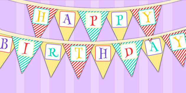 Animal Themed Birthday Party Happy Birthday Bunting - birthdays