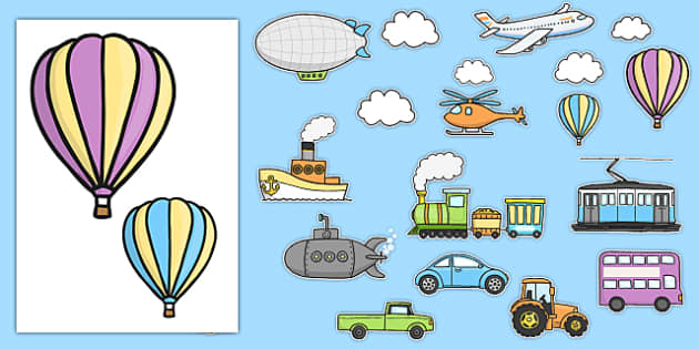 Transport Themed Wall Decals - transport, wall decals, display, images, decals