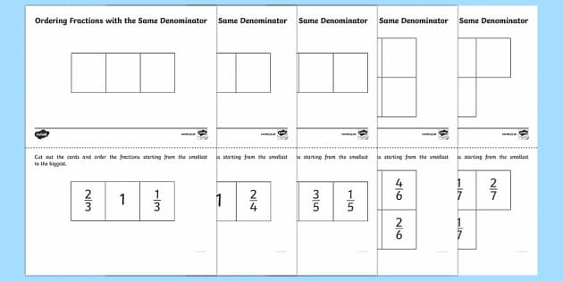 Ordering Fractions Worksheet Ks2 convert between fraction – Ordering Fraction Worksheets